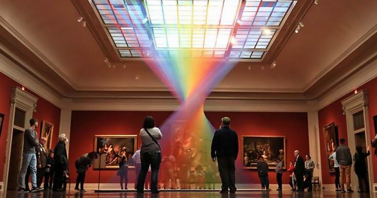 Man-Made Rainbow Trapped Inside This Gallery Is Made Of 1000s Of Colored Threads | Bored Panda