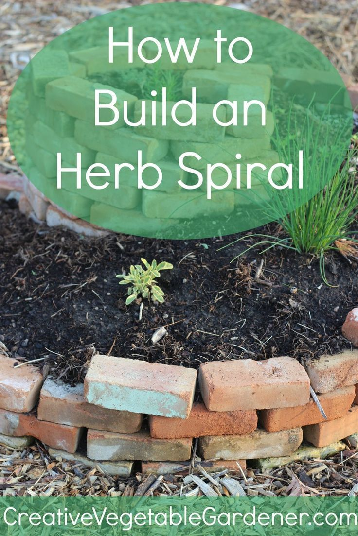 An easy to build herb spiral is a unique and beautiful addition to your vegetable garden.
