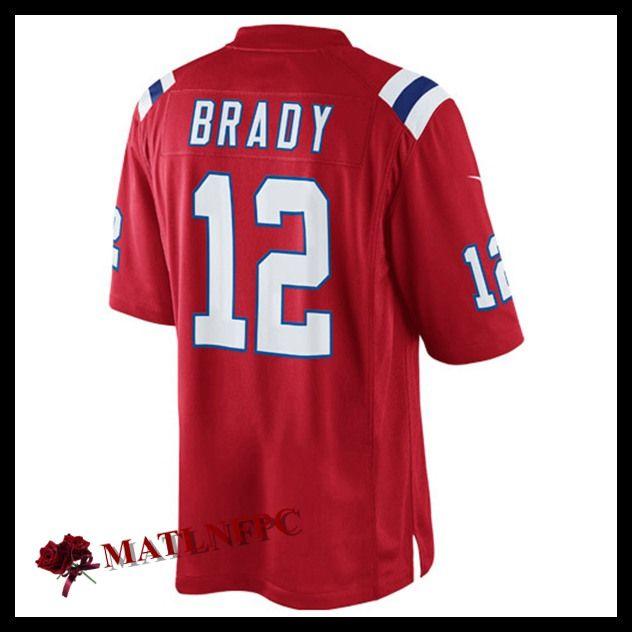 Maillot NFL New England Patriots pas cher, Maillot NFL Tom Brady New England Patriots Rouge Homme