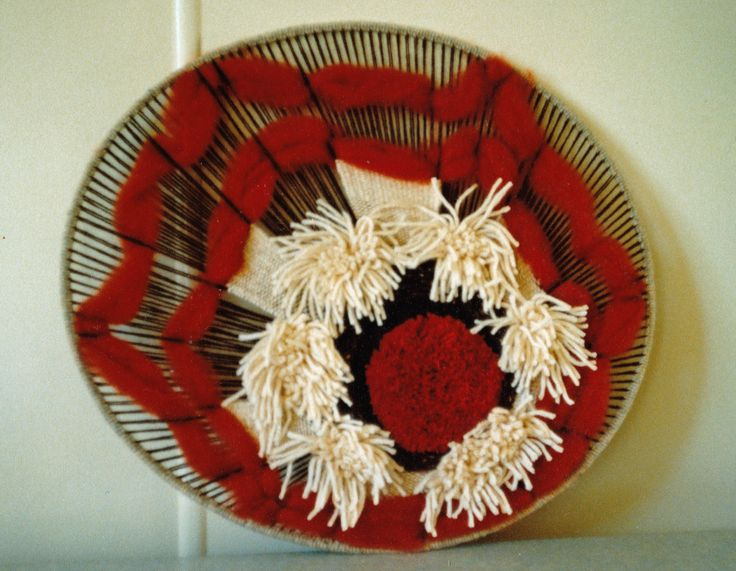 1981 Off Loom wall hanging I made for our lounge.