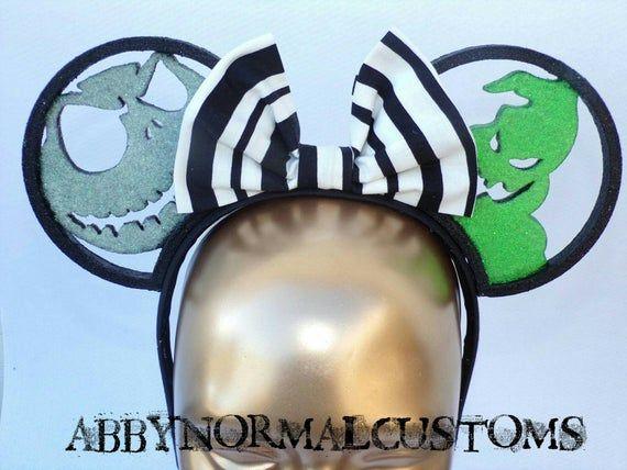 3D Printed Inspired Nightmare Before Christmas Ears Oogie Boogie or Zero