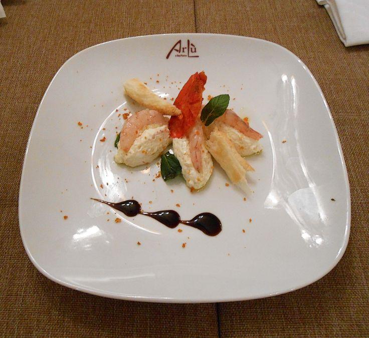 Gamberi con ricotta e spuma all'arancia #food #italianfood #ristorantearlu #arlu #restaurant