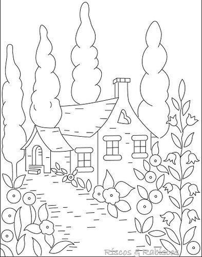 cottage coloring pages - photo#18
