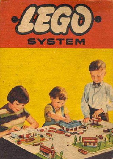 This is an old promotional poster, designed to advertise lego. This is an old poster however the colours used remain the same today. This style is very retro and looks worn... this is something i could maybe consider when developing ideas.