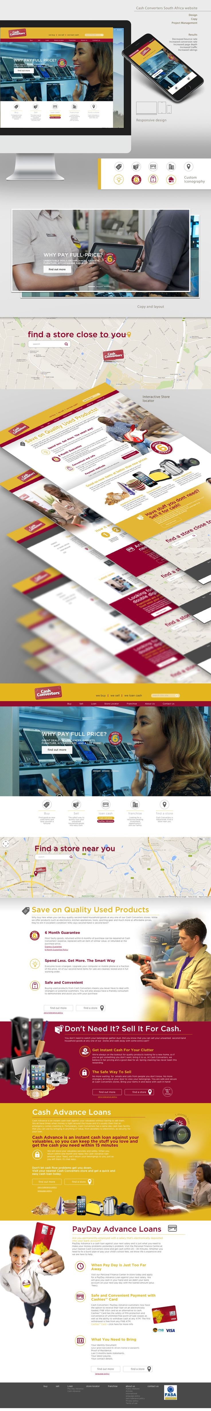 Redesign of the Cash Converters website.