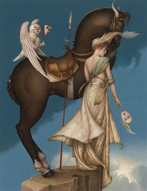 Michael Parkes. I see strength and bravery. Ready to conquer on what lies ahead with her true self.