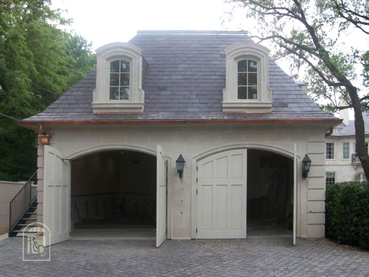 Not the right style garage designs pinterest french for Detached garage pool house