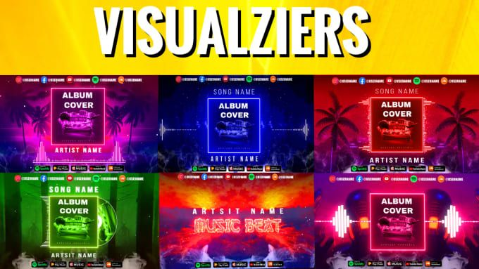 Visualizerrana I Will Create Custom Audio Spectrum Or Music Visualizer For 5 On Fiverr Com In 2021 Music Visualization Album Songs Name Songs