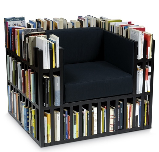 Mary...This chair is for you! :)  Books right at your finger tips.