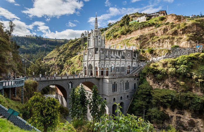 Fantastiske destinationer i Sydamerika - Las Lajas klostret, Colombia