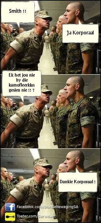 Army funny #afrikaans