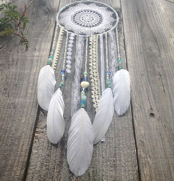 Hey, I found this really awesome Etsy listing at https://www.etsy.com/listing/181278089/peaceful-dreams-doily-dreamcatcher-white