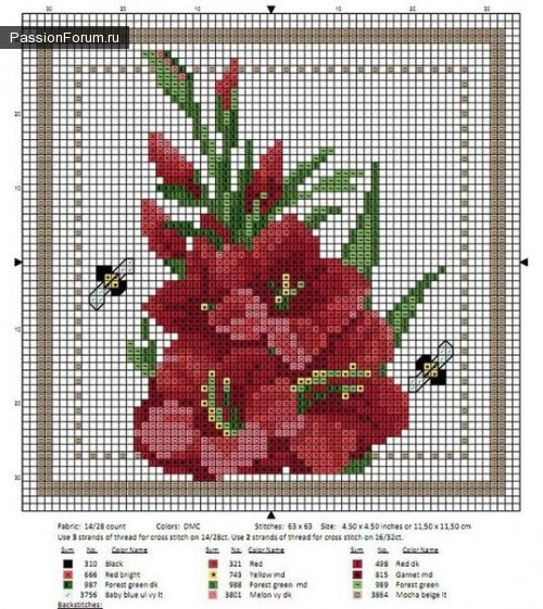 Interesting ideas for decor: SCHEMES FOR EMBROIDERY FLOWERS...СХЕМЫ ДЛЯ ВЫШИВКИ...