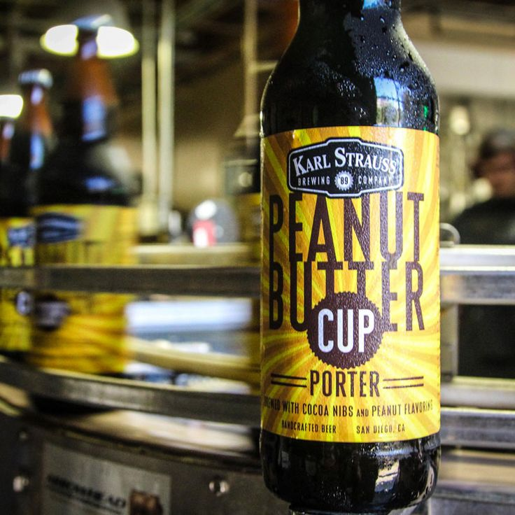 """Karl Strauss and San Diego go together like peanut butter and chocolate. That's why we chose San Diego Beer Week back in 2012 as the perfect place to debut our Peanut Butter Cup Porter. This decadent twist on a robust porter packs rich layers of smooth peanut butter and dark chocolate flavors."""