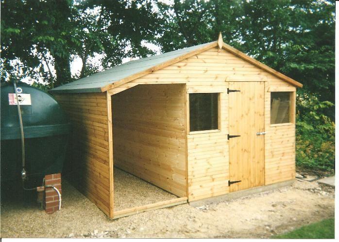 12x8 combination workshop shed cabin in garden patio garden structures shade garden