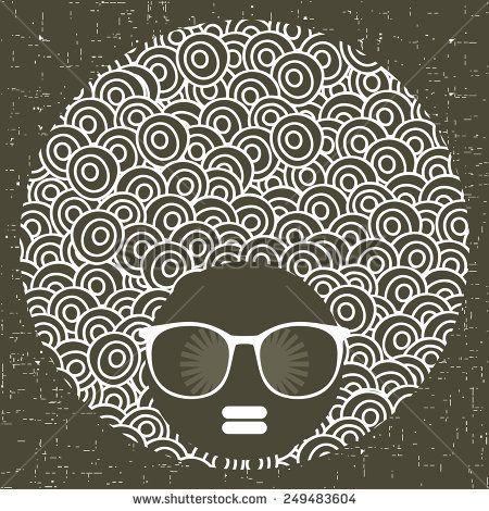 Black Head Woman With Strange Pattern On Her Hair. Vector Illustration. - 249483604 : Shutterstock