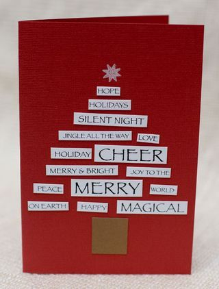 Create a Christmas tree using Darkroom Door Yuletide Wordstrips! http://www.darkroomdoor.com/view-by-collection/yuletide-collection/wordstrips-yuletide-vol-1