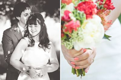 Wedding red flowers, peach nails - You are Beloved - Photography