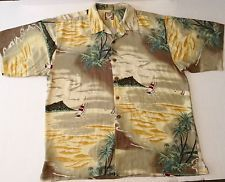 Tommy Bahama 100% Silk Hawaiian Shirt Size XL