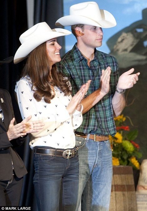July 7, 2011 - The hats the couple were presented with were made from rabbit fur and took a week to make by local firm Smithbilt who have been making them since 1919