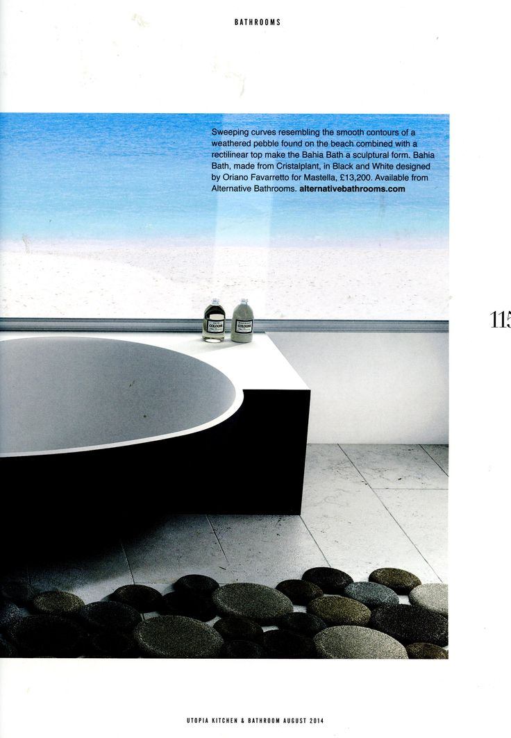 The Bahia Bath By Www.alternativebathrooms.com In Utopia August 2014  #bathtub #
