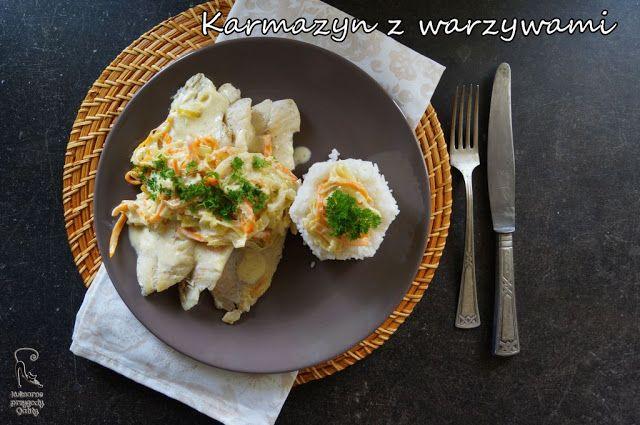 Kulinarne przygody Gatity: Karmazyn w warzywach z sosem winno-śmietanowym