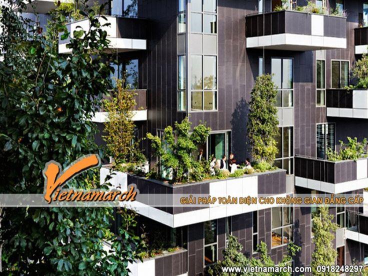 Thiết kế chung cư xanh giữa thành phố hiện đại