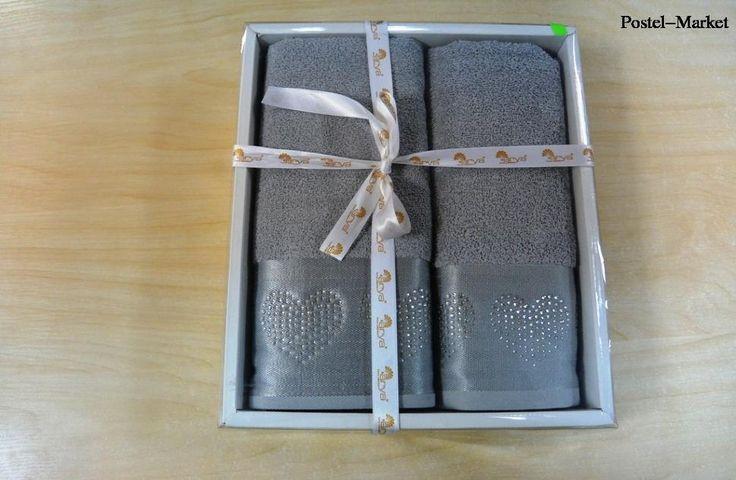 Купить набор полотенец Uc Kalp Gri Arya - Постель Маркет