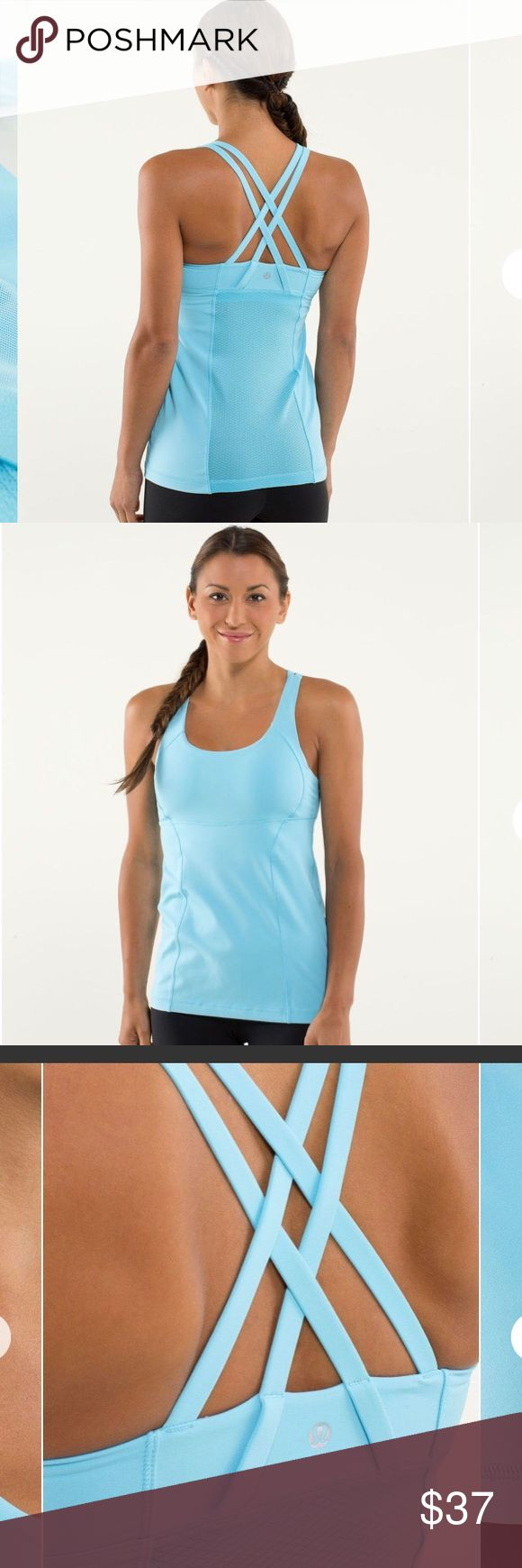 Lululemon Energy Tank Blue Moon Strappy Size 6? Lululemon Womens Energy Tank in Blue Moon Yoga, Running, Workout  Size: 6? See Measurements in Pictures Design: Padded Shelf Bra Material: Mesh, Power Luxtreme Condition: Excellent Pre-loved Condition! lululemon athletica Tops Tank Tops