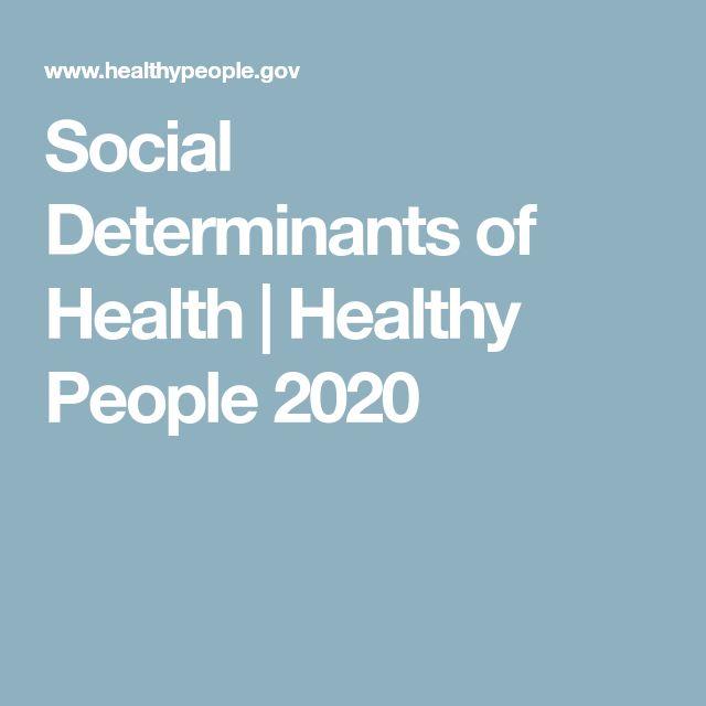 Social Determinants of Health | Healthy People 2020