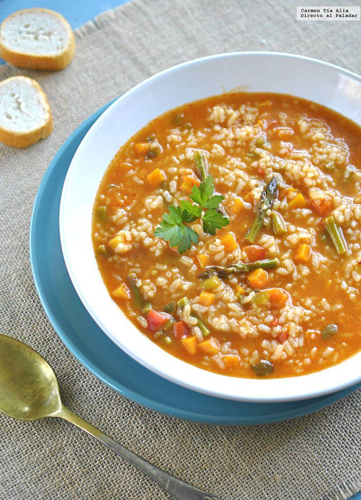 Te explicamos paso a paso, de manera sencilla, cómo hacer la receta de arroz caldoso de verduras. Tiempo de elaboración, ingredientes,