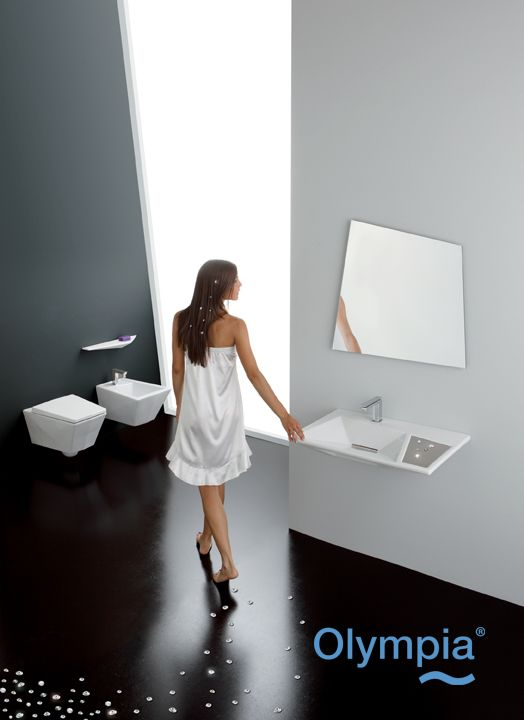 Crystal collection - Bathroom furniture - Olympia Ceramica.   http://www.olympiaceramica.it/it/crystal/