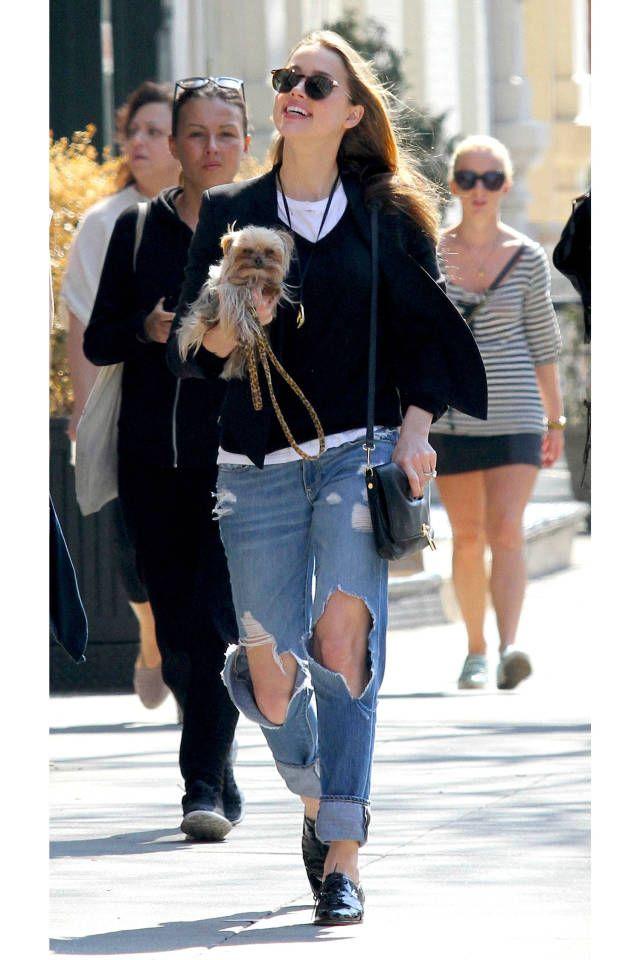 The best celebrity denim looks: Amber Heard