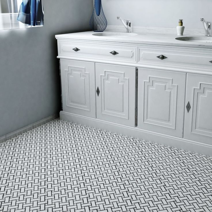 SomerTile 10.5x10.5-inch Victorian Basket Weave White Porcelain Mosaic Floor and Wall Tile (Case of