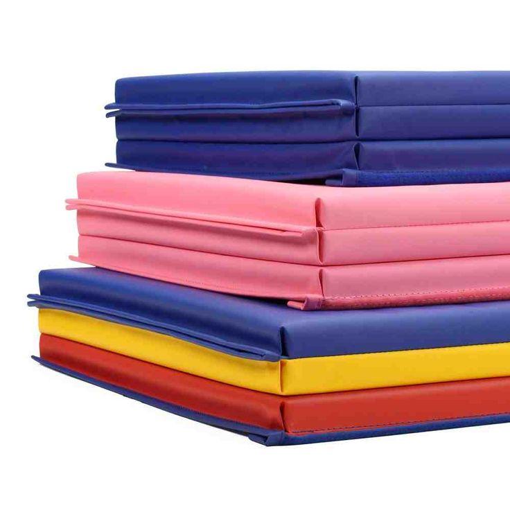 blue gymnastics mats sport equipment