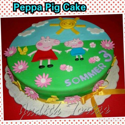 "Torta decorada con fondant. ""Peppa Pig"""