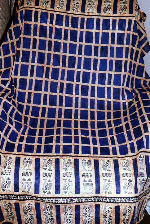 Hand printed sarong on cotton voile