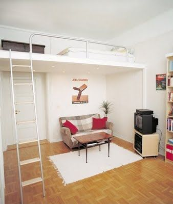 Loft bed: great for kid's room and so much easier to make up than a regular high sleeper