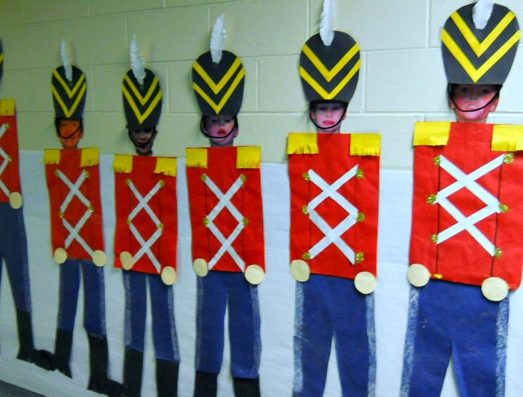 Toy Soldier- Use a picture of the students for their toy's face. Idea- British Beefeaters