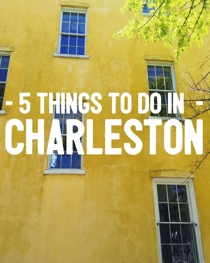 Charleston is so beautiful and there's so much to do!