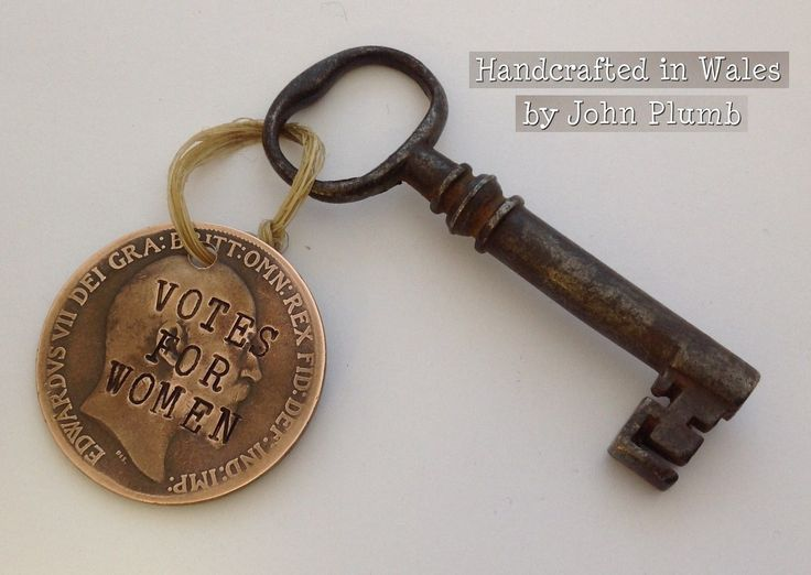 Edward VII Defaced Penny Coin Suffragette KeyFob Votes for Women Emily Pankhurst | eBay