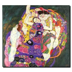 Artist: Gustav Klimt Title: Virgins Product Type: Gallery-wrapped Canvas Art Style: Casual Format: Square Size: Large Subject: Museum Masters Image dimensions: 35 inches high x 35 inches wide Size: La