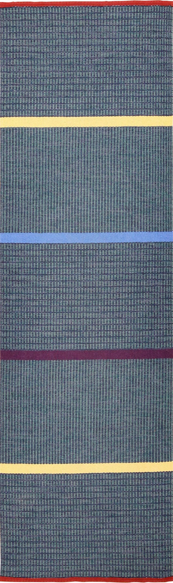 View this breathtaking ultra modern chic Gunilla Lagerhem Ullberg Scandinavian runner rug #49439 at Nazmiyal Antique Rugs in NYC.