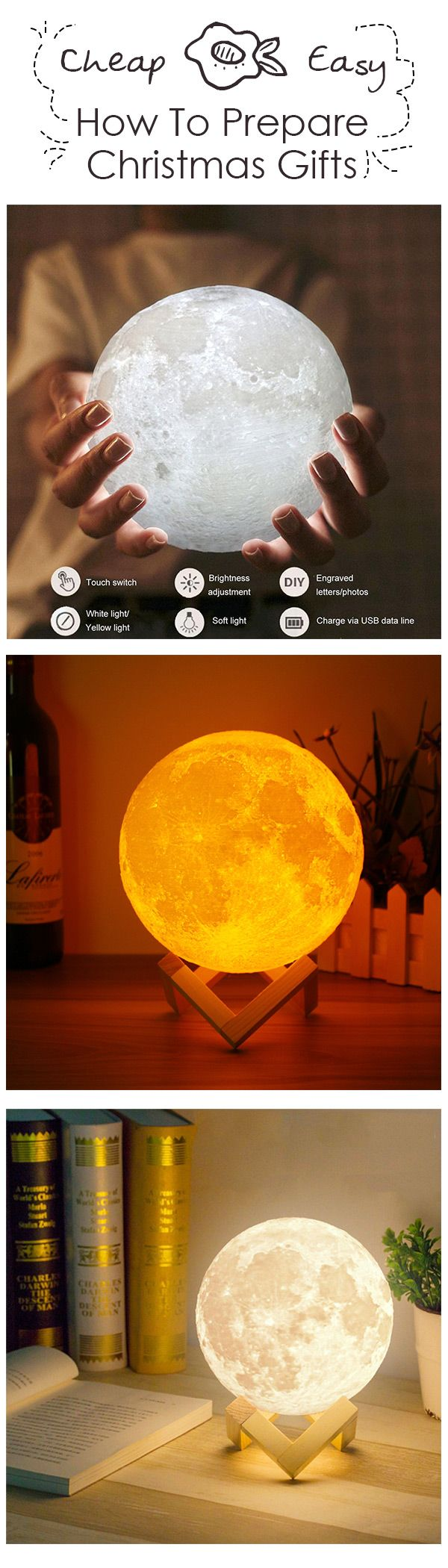 Bring The Moon Into Your Home - Realistic Magical Moon Lamps#christmas #homedecor #Home #lamp #lighting #led #ledlights #newchic #new #CHIC