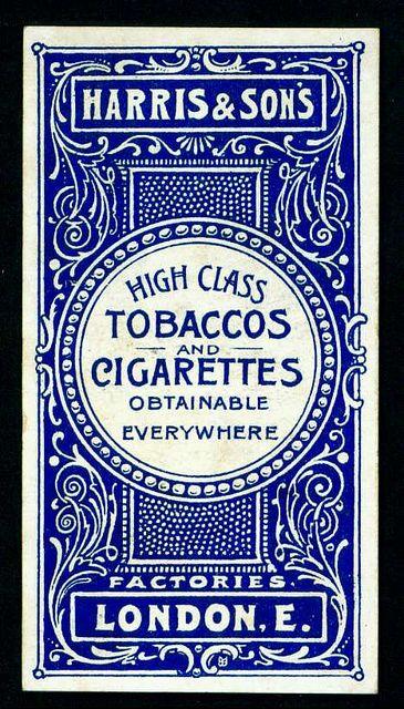 Typographic poster design for Harris & Sons UK tobaccos & cigarettes, circa 1900