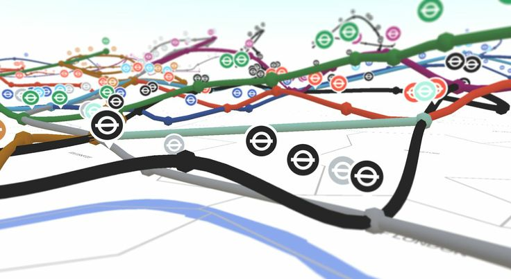 ViziCities Development Diary - London Underground in 3D. Our third and most exciting development diary video to date. In this update we pull back the covers on our 3D visualisation of the London Underground network, including live trains! More soon…  ViziCities aims to bring cities to life using the power of the web. Sign up for early access at http://vizicities.com
