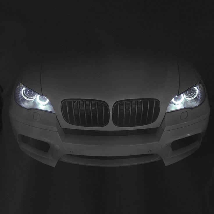 BMW X5 E70 M 2010-2013 T-Shirt Herren Geschenk Idea Scheinwerfer Glühen xDrive 100% Baumwolle Urlaub Geschenk Geburtstag