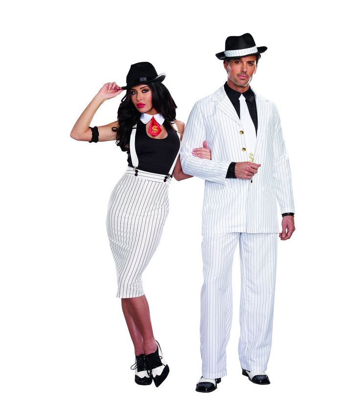This sexy five piece gangster costume with a pencil skirt dress will show who is really boss this Halloween. Great Canadian costume store. Buy online in Canada.