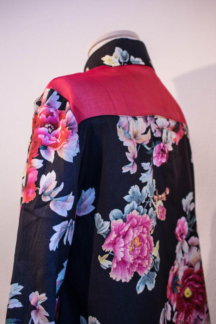 Camicia donna viscosa e organza di seta