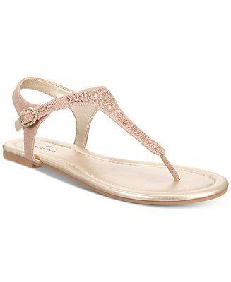 a7ec8e897da28 Bandolino Kyrie Embellished Flat Sandals - Sandals   Flip Flops - Shoes -  Macy s  flipflopsshoes